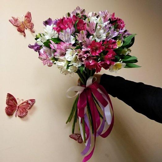 Букет из альстромерии (21шт): букеты цветов на заказ Flowwow