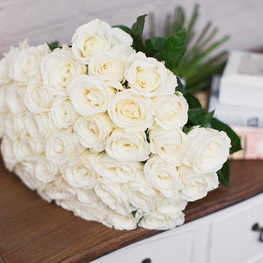 Букет из 51 розы «Tibet»: букеты цветов на заказ Flowwow
