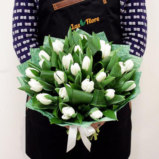 """Букет """"Белый танец""""(25 тюльпанов)"""