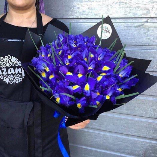 Загадочные ирисы: букеты цветов на заказ Flowwow