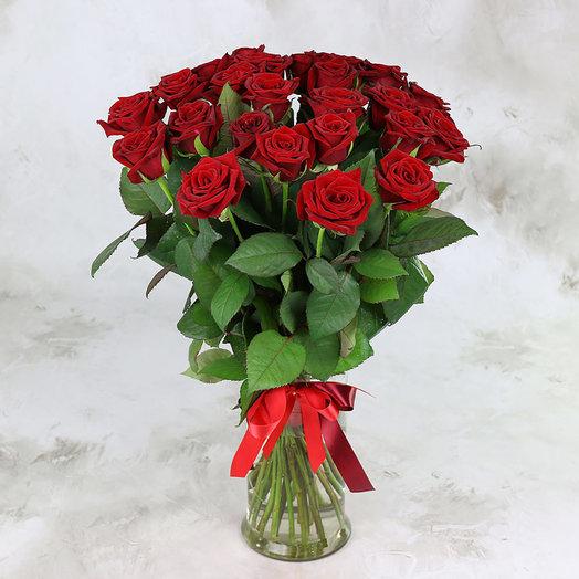 Букет из 25 красных роз - Ред Наоми