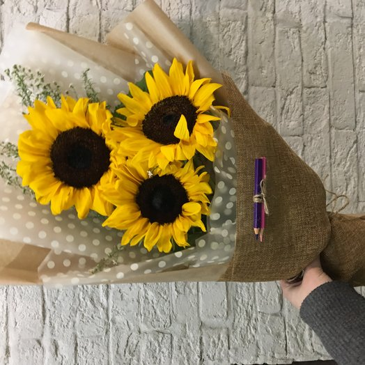 Привет сентябрь: букеты цветов на заказ Flowwow