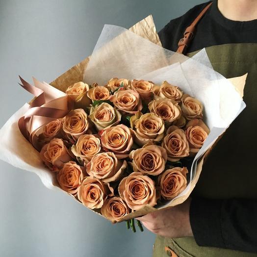 Розы цвета - солёной карамели: букеты цветов на заказ Flowwow