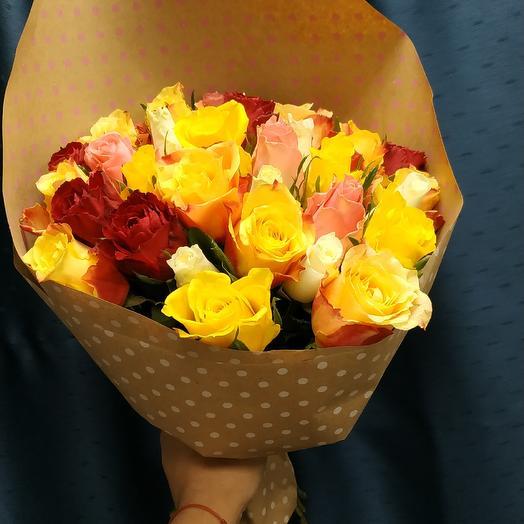 35 роз: букеты цветов на заказ Flowwow