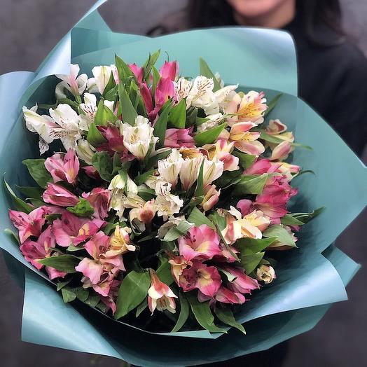 Букет из стойких альстрамерий: букеты цветов на заказ Flowwow
