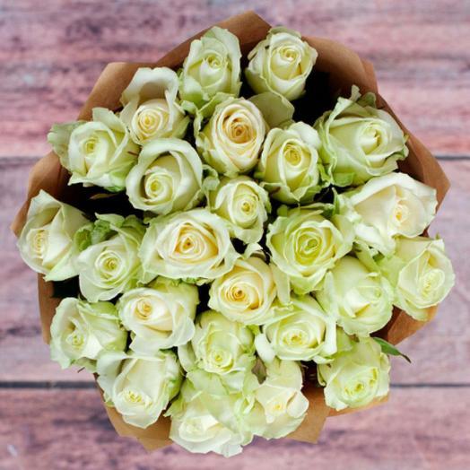 25 роз в крафте: букеты цветов на заказ Flowwow