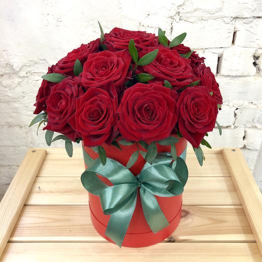 "Box of roses ""Kiss of love"""