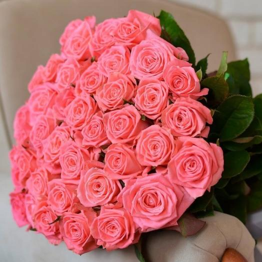 39 коралловых роз в букете: букеты цветов на заказ Flowwow