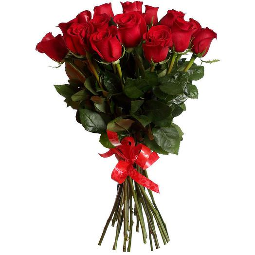 19 червоних троянд 70 см