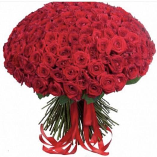 201 красная роза Премиум: букеты цветов на заказ Flowwow