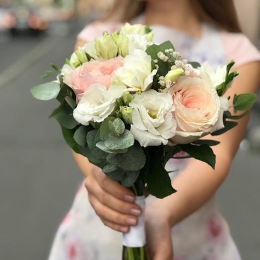 "Свадебный букет ""Первая Эмоция"": букеты цветов на заказ Flowwow"