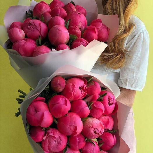 Пионы Coral sharm: букеты цветов на заказ Flowwow