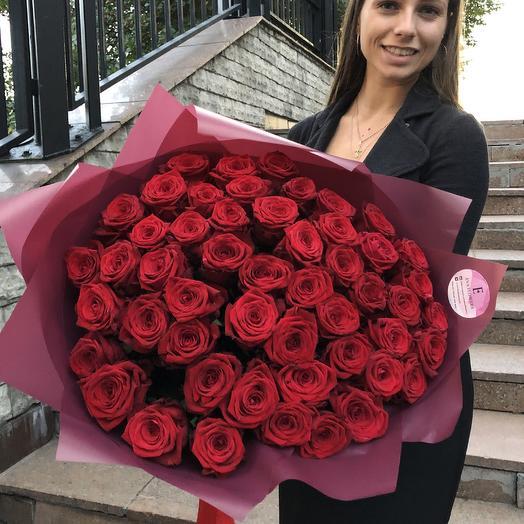 51 роза 60см: букеты цветов на заказ Flowwow