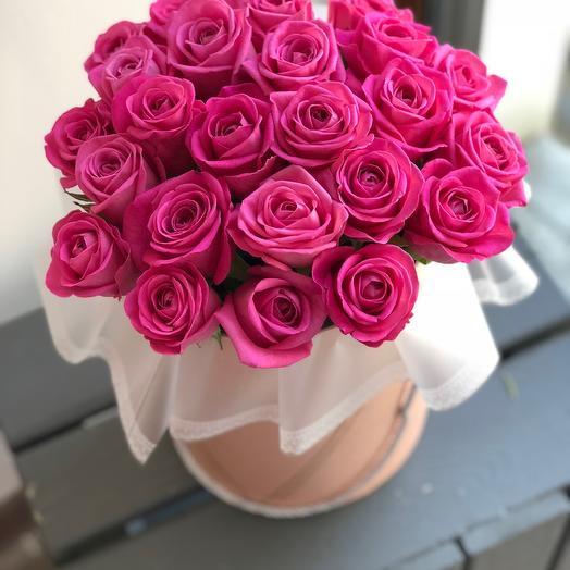 29 розовых роз для любимой