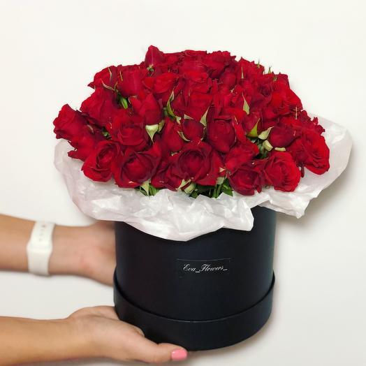 Стильная коробочка роз: букеты цветов на заказ Flowwow