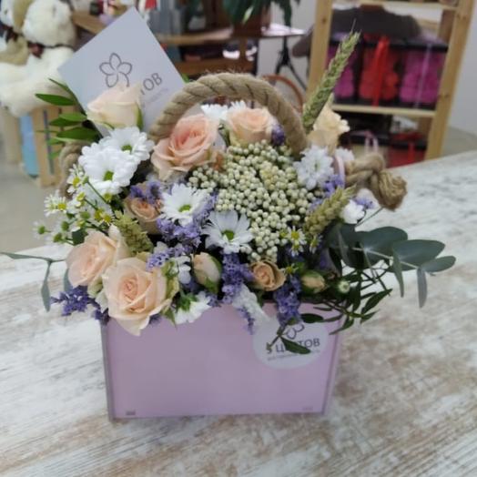 """Розовый ящик  """"нежность"""": букеты цветов на заказ Flowwow"""