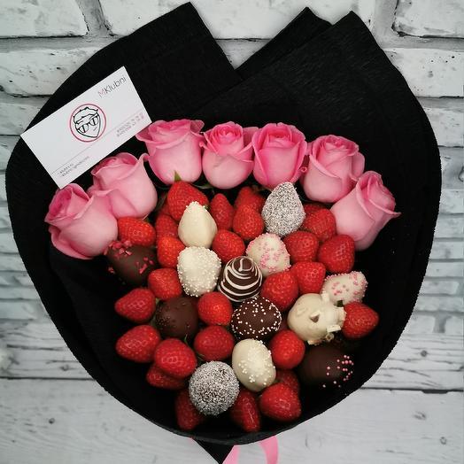 Букеь СТРАСТЬ: букеты цветов на заказ Flowwow