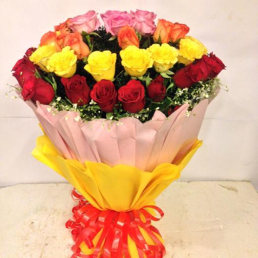 50 Mixed Roses Bunch
