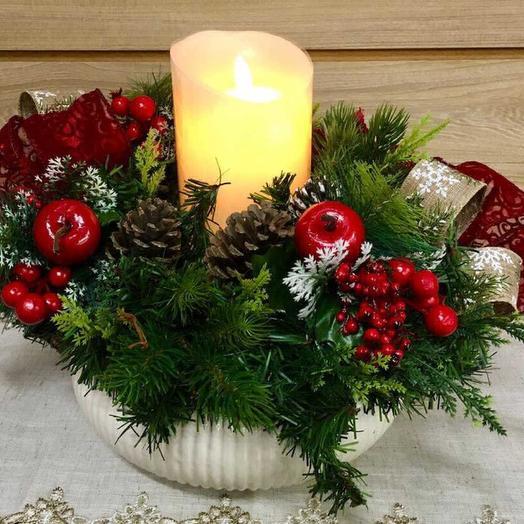 Тепло рождественского праздника: букеты цветов на заказ Flowwow