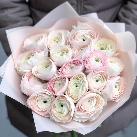 Моно ранункулюсы Клуни Ханой: букеты цветов на заказ Flowwow