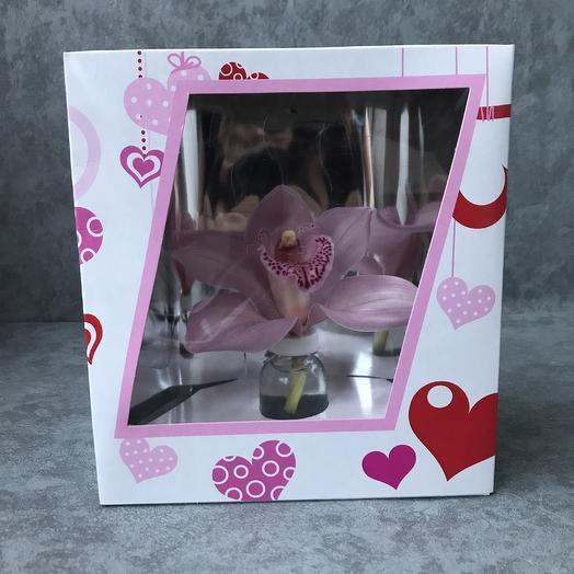 Орхидея цимбидум в колбе: букеты цветов на заказ Flowwow