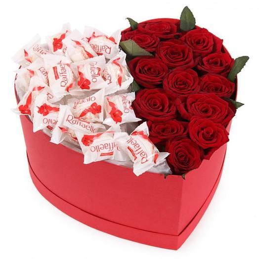 Rose + Raffaello in gift box