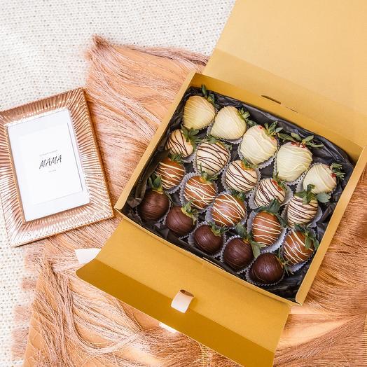 """Клубника в шоколаде в коробке """"Бэль"""""""