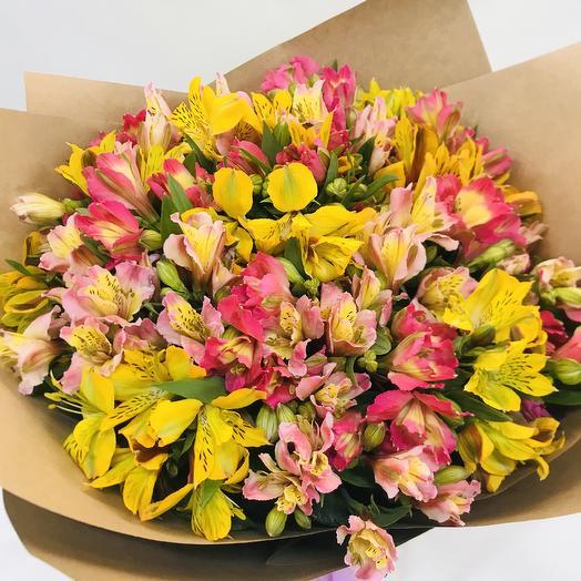 Яркая альстромерия микс: букеты цветов на заказ Flowwow