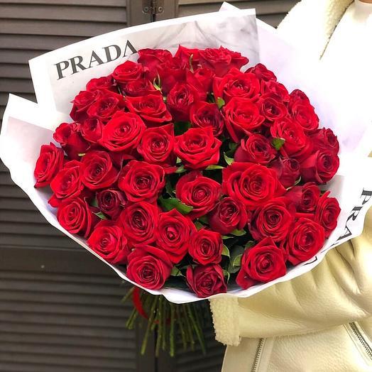 """51 красная роза """"PRADA"""""""