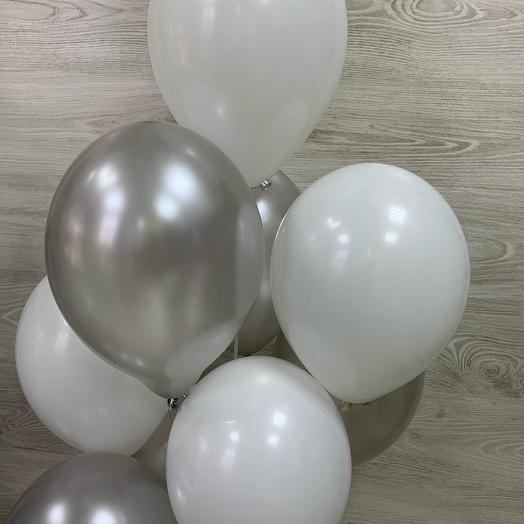 Воздушные Шары белое серебро