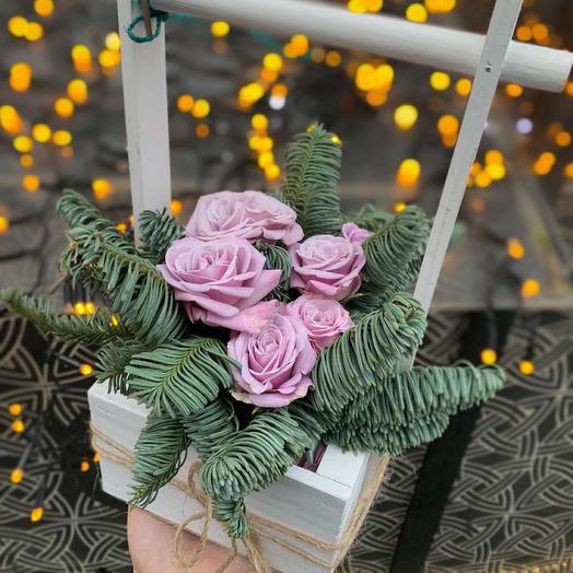«Ящик с нобилисом и розой»