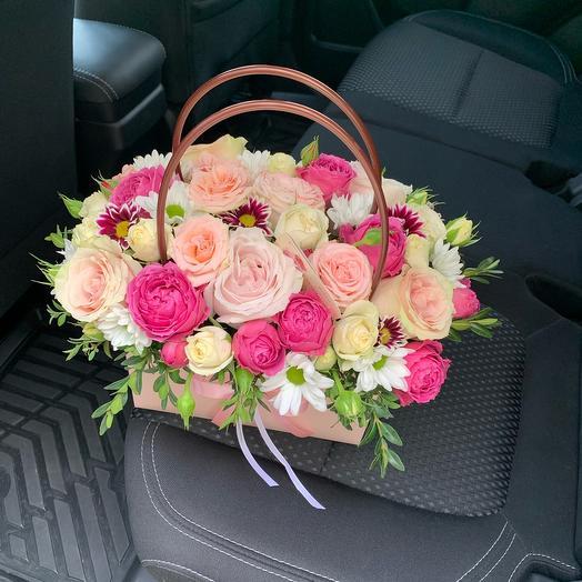 Цветы в сумочке «Девичья любовь»