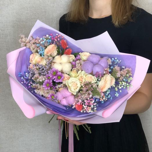 Букет «Фантазия» с розами