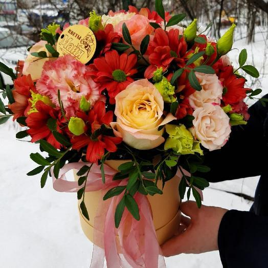 """Цветы в коробке """"Яркие краски"""""""