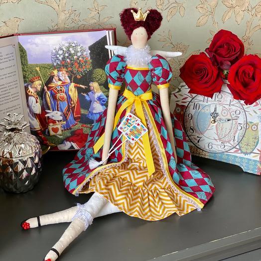 Интерьерная кукла Тильда - королева Черви