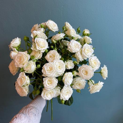 Монобукет из кустовой розы