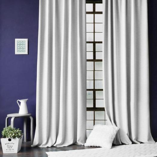 Комплект штор с подхватами Бадди Белый, 200х270 см - 2 шт