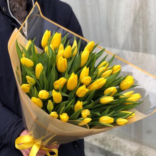 Букет Желтые Тюльпаны