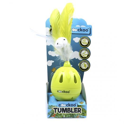 Игрушка для кошек интерактивная Tumbler лайм