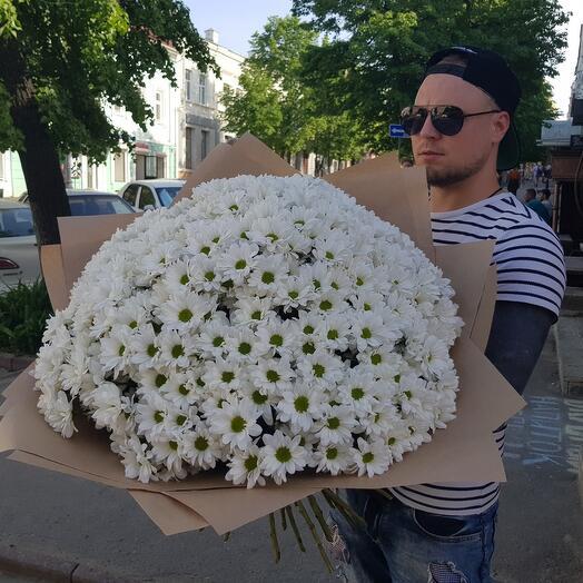 Букет из 75 хризантем