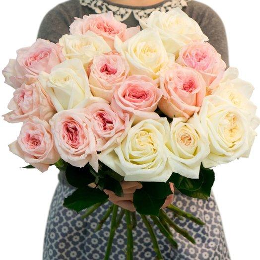 Микс пионовидных роз Охара