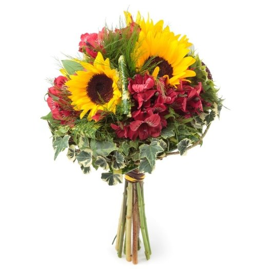 Alstromeria and sunflowers: flowers to order Flowwow