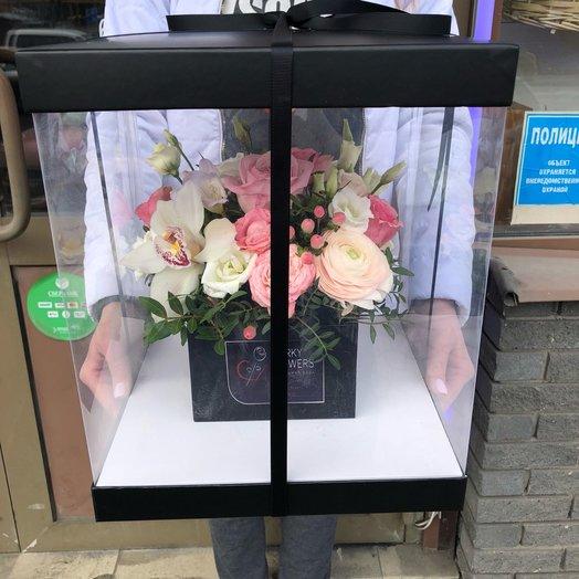 Композиция с орхидеей: букеты цветов на заказ Flowwow