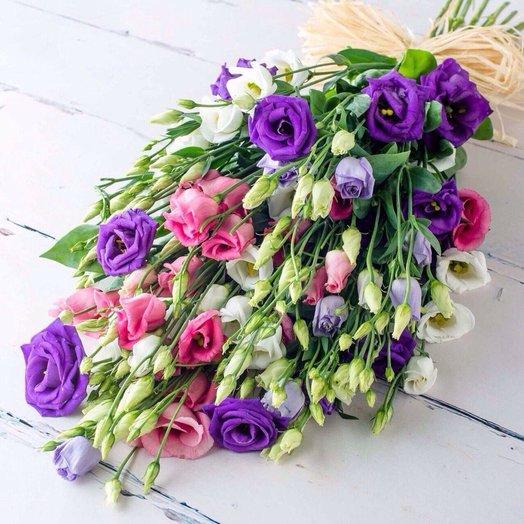 Букет разноцветной эустомы (25 шт): букеты цветов на заказ Flowwow