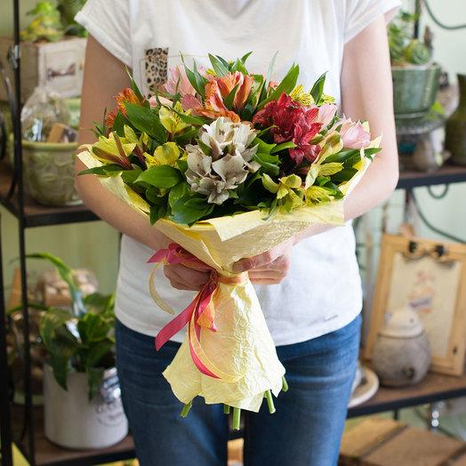 Букет из разноцветных альстромерий (11 альстромерий): букеты цветов на заказ Flowwow