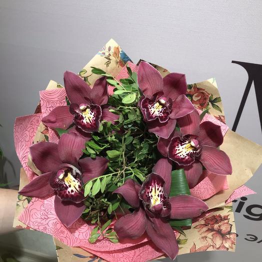 Букет ВИННЫЙ: букеты цветов на заказ Flowwow