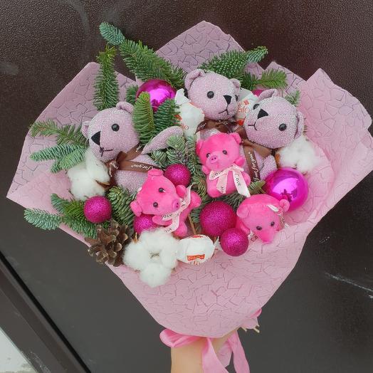 Новогодний букет игрушек: букеты цветов на заказ Flowwow