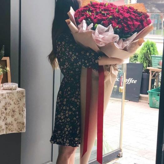"""Букет """"Богема"""" из 101 красной розы"""