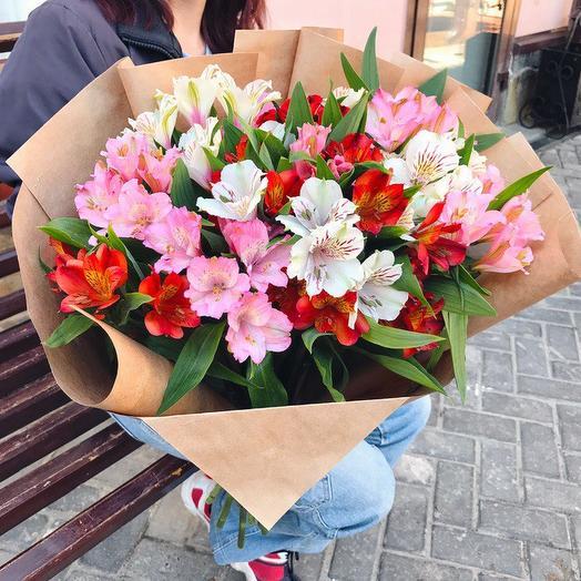 11 альстромерий микс: букеты цветов на заказ Flowwow