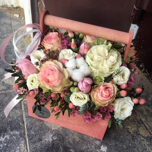 Бокс с цветами 9: букеты цветов на заказ Flowwow